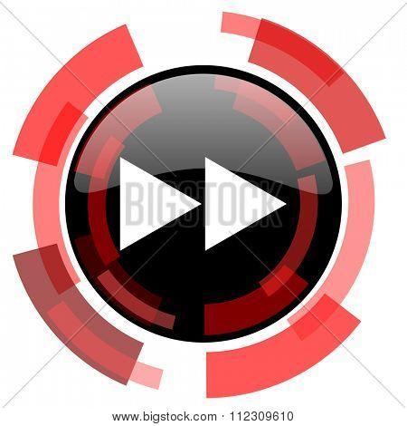 rewind red modern web icon