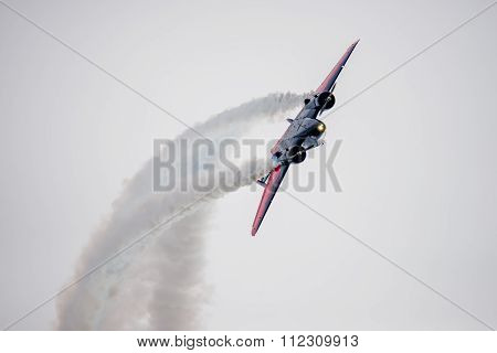 Large Stunt Plane Looping
