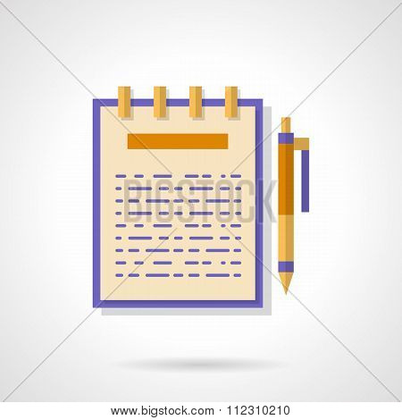 Articles creating flat color vector icon