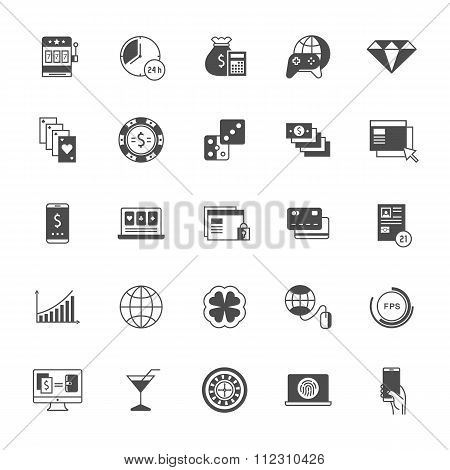 Set Vector Icons Online Gaming