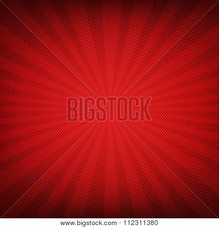 Red Burst Poster