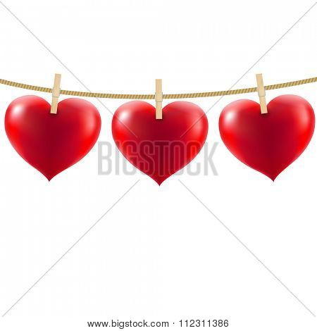 Heart With Clothespegs