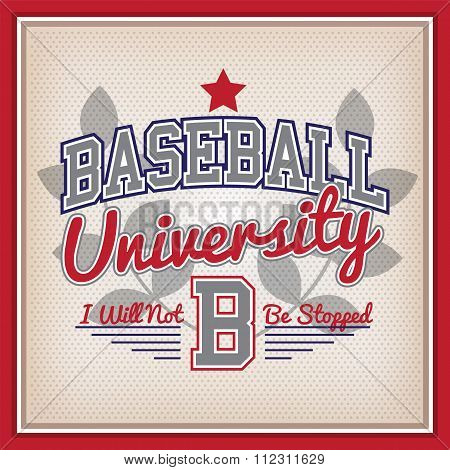 Baseball University Badge