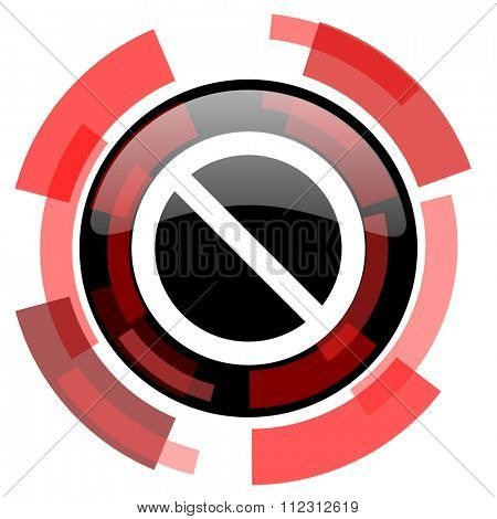 access denied red modern web icon