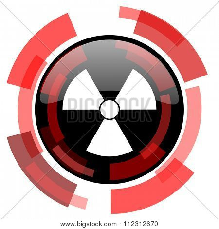 radiation red modern web icon
