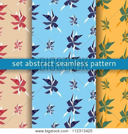 seamless abstract retro geometric shapes ornament