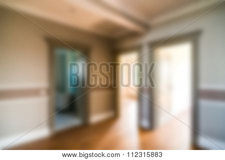 Luxury house interior theme blur background