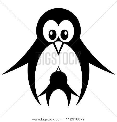 Vector Cute Cartoon Penguin Drawing