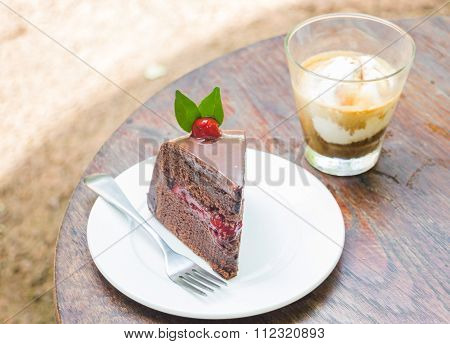 Affogato Espresso And Black Forest Cake