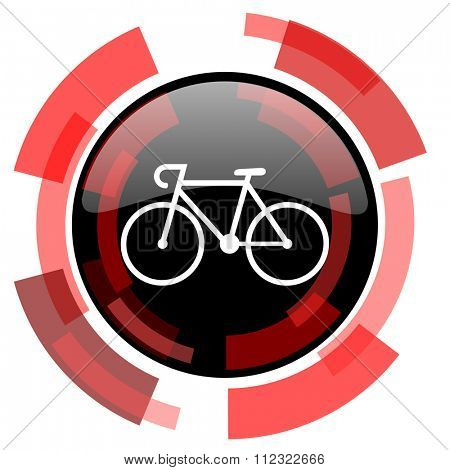 bicycle red modern web icon