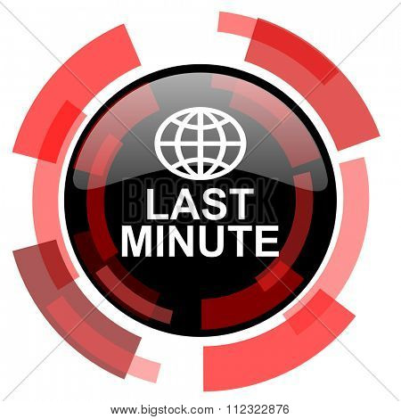 last minute red modern web icon