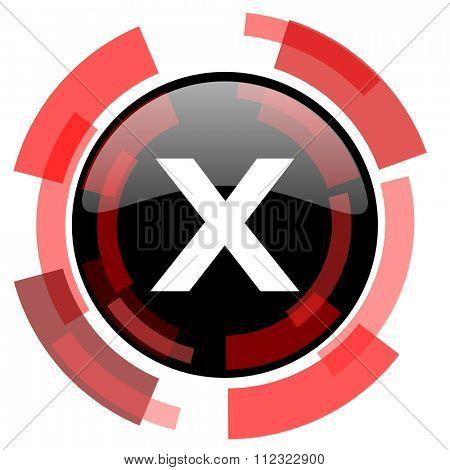 cancel red modern web icon