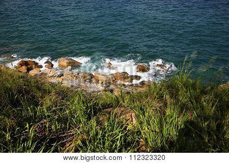 Rocky beaches in Nha trang, Van Phong Bay, vietnam