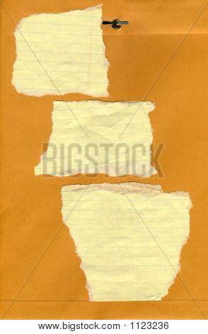 Crumpled Paper Scraps An Envelope