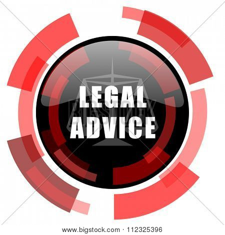 legal advice red modern web icon