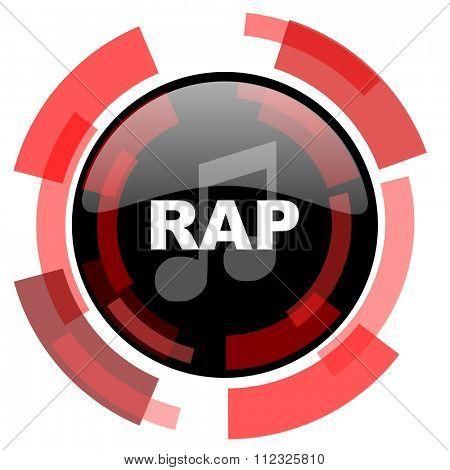 rap music red modern web icon