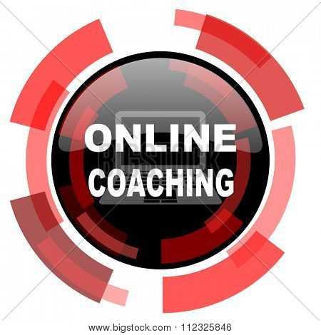 online coaching red modern web icon