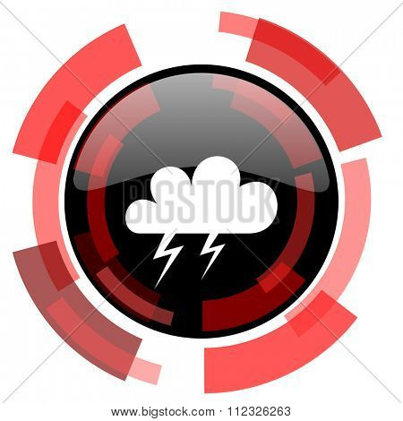 storm red modern web icon