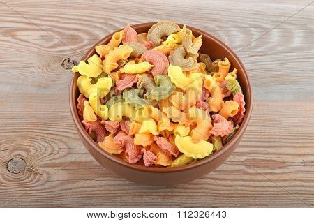 Whole grain Italian Pasta In Bowl