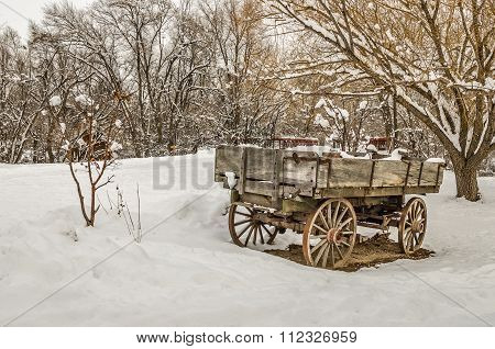 Antique Wagon In Rural America