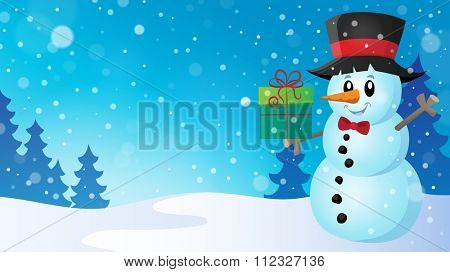 Christmas snowman theme image 7 - eps10 vector illustration.