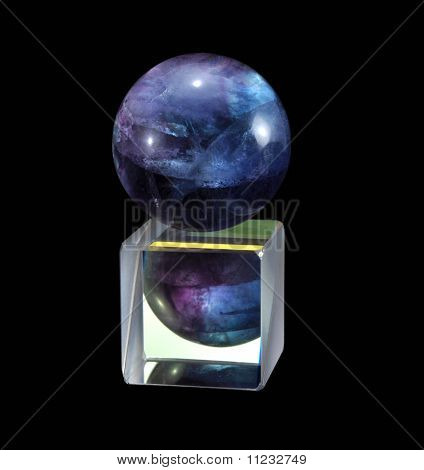 Fluorite on the prism