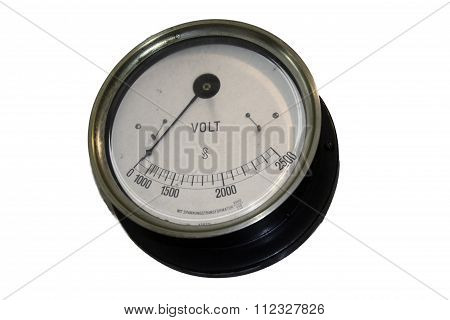 Old Black Voltmeter