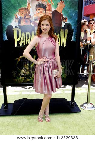 LOS ANGELES, CALIFORNIA - August 5, 2012. Anna Kendrick at the Los Angeles premiere of