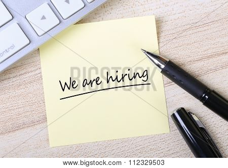 We Are Hiring Note