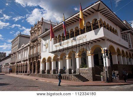 Cuenca, Ecuador - November 27, 2015: Gobernacion Del Azuay On 27