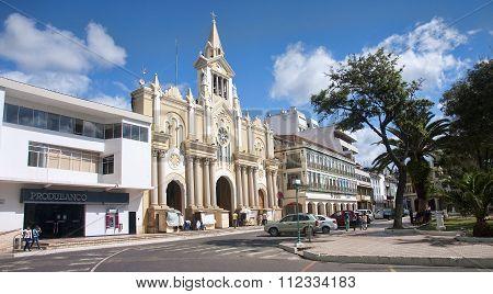Loja, Ecuador - November 29, 2015: Cathedral Of Loja On 29 Novem