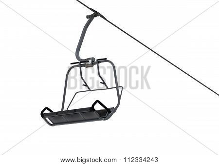 Chair-lift Isolated On White Background