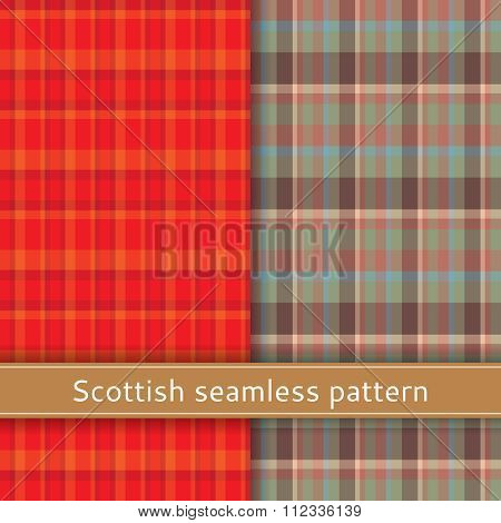Scottish seamless pattern repetition material textured illustration