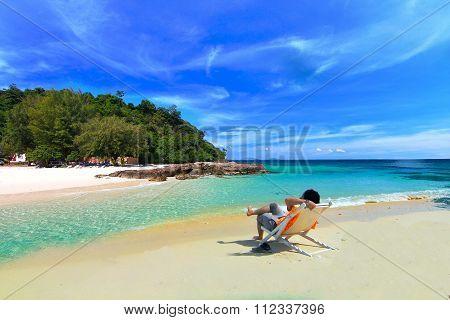 Paradise beach and island at phuket ,Thailand