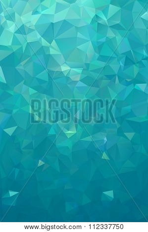 Turquoise polygonal background. Nothern lights winter back