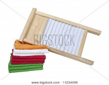 Lavadero y toallas