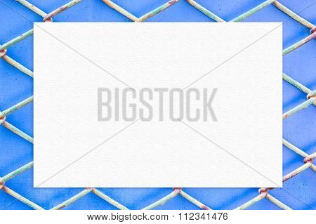 Paper On Metal Fence