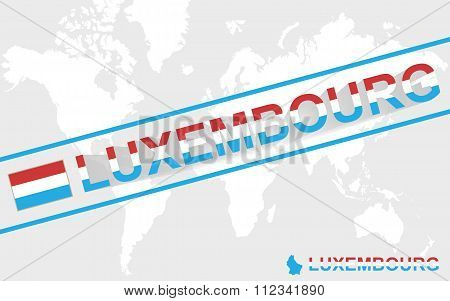 Luxembourg Map Flag And Text Illustration