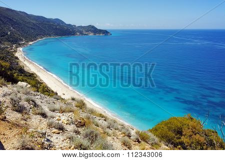 Amazing Panorama of Kokkinos Vrachos Beach