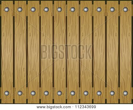 Wood background. Floor old brown wooden planks texture. Vector wood background