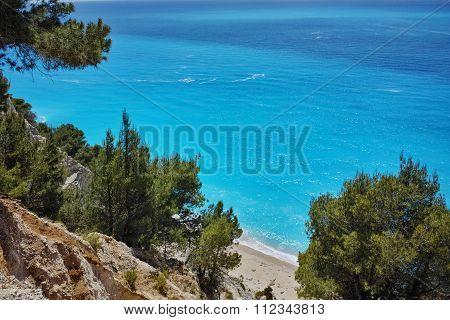 Amazing panorama of Gialos Beach, Lefkada