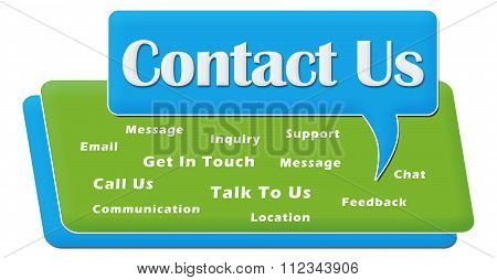Contact Us Comment Symbol Block