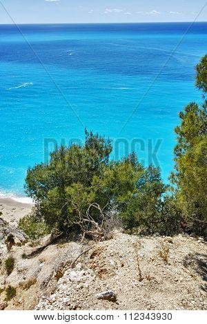 Blue Waters of Gialos Beach, Lefkada, Ionian Islands
