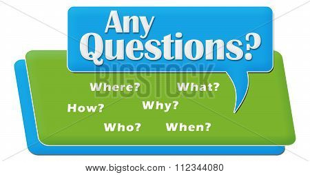 Any Questions Comment Symbol Block