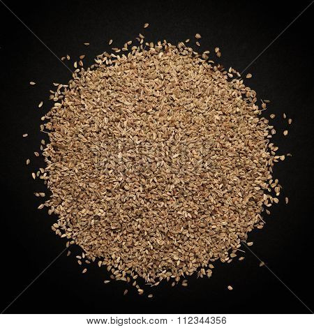 Top view of Organic Ajwain.