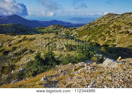 Amazing Landscape of mountain in Lefkada
