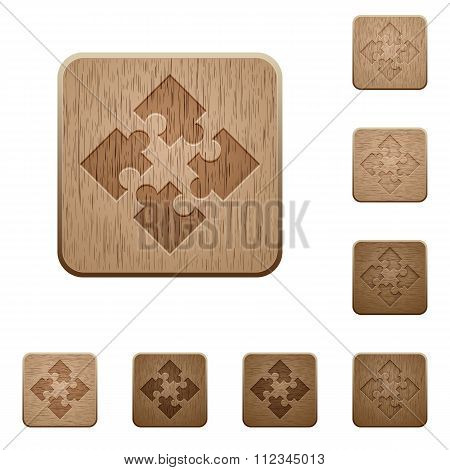 Modules Wooden Buttons