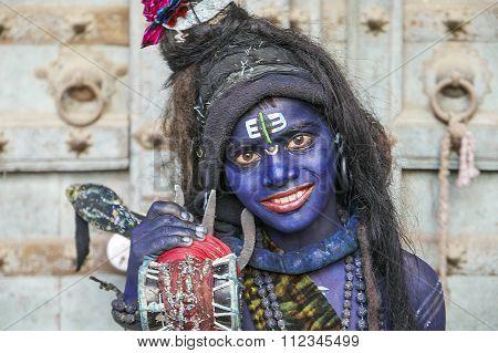 Young Shiva During Pushkar Fair.