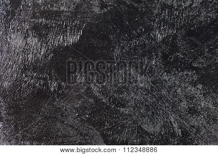 Grungy Black Concrete Old Texture Wall
