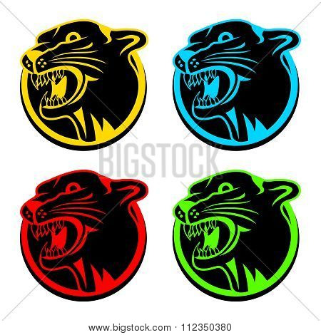 Vector Artistic Puma Head Mascot Illustration
